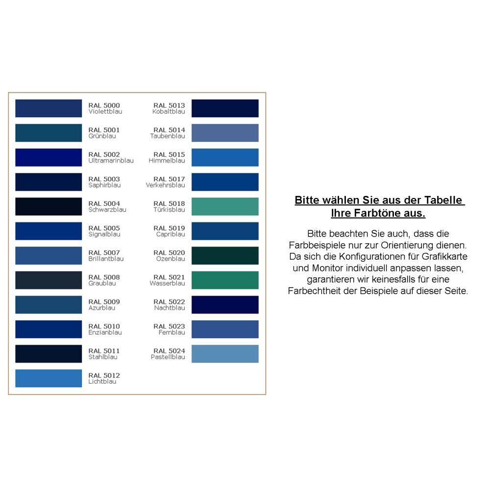 Blautöne Farbpalette: 1 Kg Acryllack In RAL 5024 (Pastellblau)